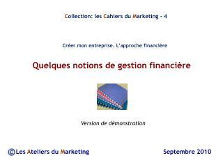 Quelques notions de gestion financière