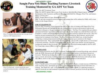 Sangin Para-Vets Shine Teaching Farmers Livestock Training Mentored by GA ADT Vet Team