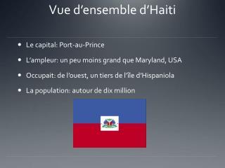 Vue d'ensemble d'Haiti