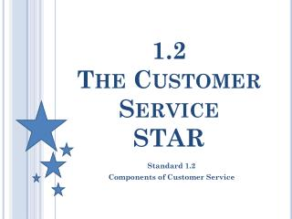 1.2  The Customer Service  STAR