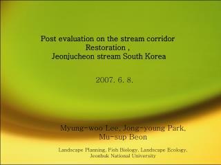 Myung-woo Lee, Jong-young Park, Mu-sup Beon