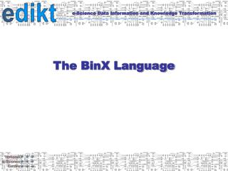 The BinX Language