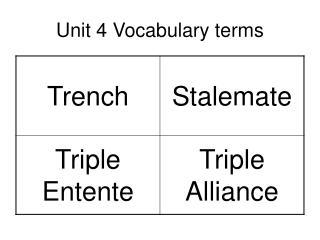Unit 4 Vocabulary terms