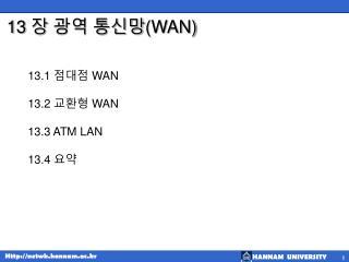 13  장 광역 통신망 (WAN)