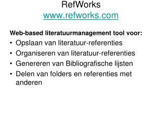 RefWorks refworks