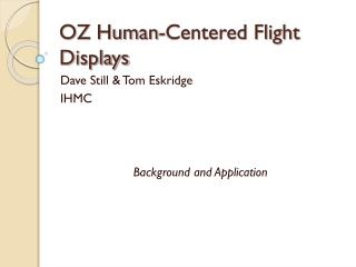 OZ Human-Centered Flight Displays