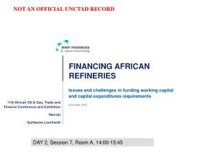 FINANCING AFRICAN REFINERIES