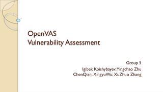 OpenVAS Vulnerability  Assessment