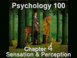 Psychology 100 Chapter  4 Sensation & Perception