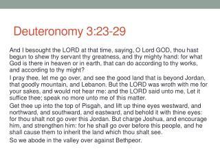 Deuteronomy 3:23-29