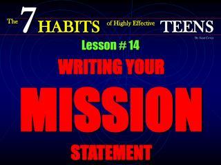 Lesson # 14