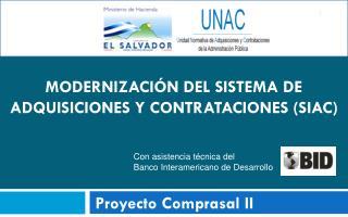 Modernización del sistema de adquisiciones y contrataciones (SIAC)