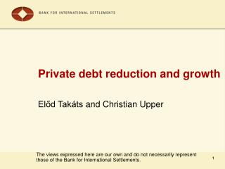Private debt reduction and growth
