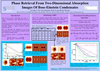 Phase Retrieval From Two-Dimensional Absorption  Images Of Bose-Einstein Condensates