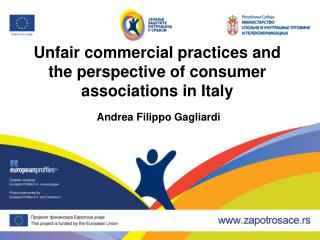 Unfair commercial practices and the perspective of consumer associations in Italy