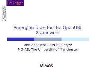 Emerging Uses for the OpenURL Framework