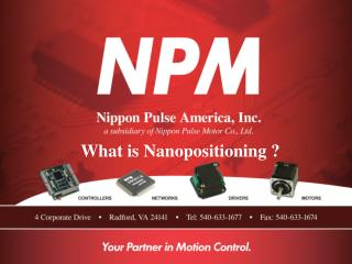 What is Nanopositioning  ?
