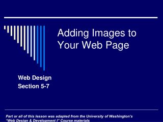 Adding Images to Your Web Page