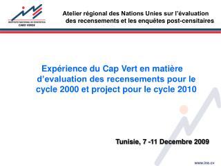 Tunisie, 7 -11 Decembre 2009