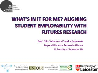 What's  in it for me? Aligning student employability with futures research