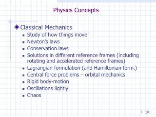 Physics Concepts