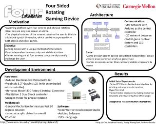 Four Sided Rotating Gaming Device