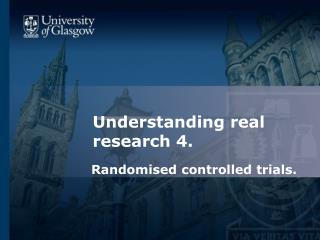 Understanding real research 4.