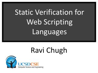 Static Verification for Web Scripting Languages