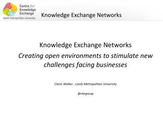 Knowledge Exchange Networks
