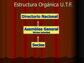 Estructura Orgánica U.T.F.