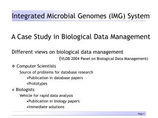 Integrated Microbial Genomes (IMG) System