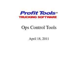 Ops Control Tools