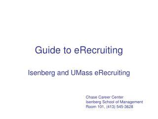 Guide to eRecruiting