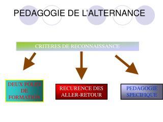 PEDAGOGIE DE L�ALTERNANCE