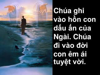 Chúa ghi vào hồn con dấu ấn của Ngài. Chúa đi vào đời con êm ái tuyệt vời.