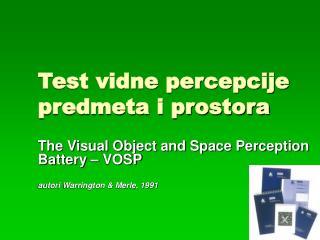 Test vidne percepcije predmeta i prostora