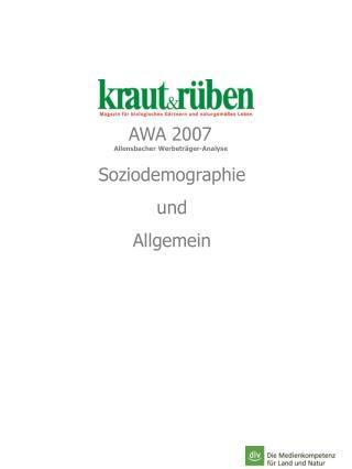 Allensbacher Werbeträger-Analyse