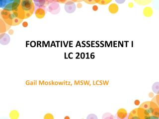 FORMATIVE ASSESSMENT I LC 2016