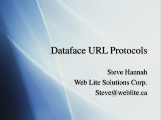 Dataface URL Protocols