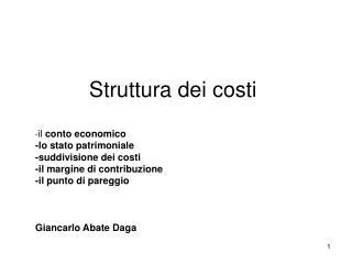 Costi e Ricavi