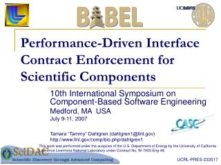 Performance-Driven Interface Contract Enforcement for Scientific Components