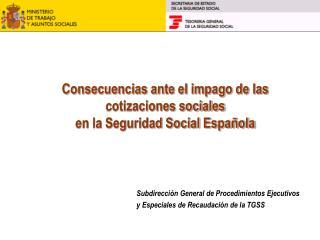 Consecuencias ante el impago de las  cotizaciones sociales  en la Seguridad Social Española