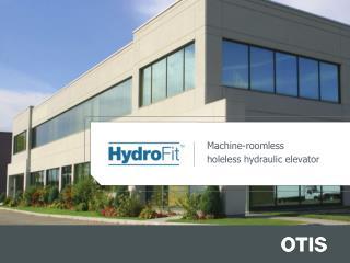 Machine-roomless  holeless hydraulic elevator