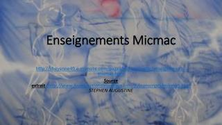 Enseignements Micmac