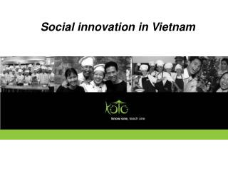 Social innovation in Vietnam