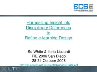 Harnessing Insight into  Disciplinary Differences  to Refine e-learning Design
