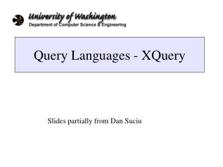 Query Languages - XQuery