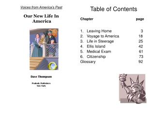 Voices from America's Past  Our New Life In  America Dave Thompson Peabody Publishers New York