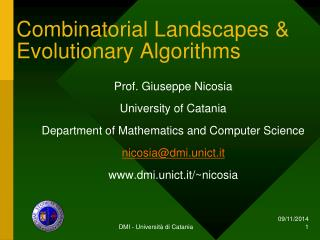 Combinatorial Landscapes & Evolutionary Algorithms