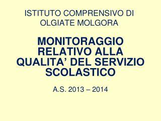 ISTITUTO COMPRENSIVO DI OLGIATE MOLGORA